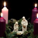 Religious: Christmas Advent Wreath with Nativity Scene 2