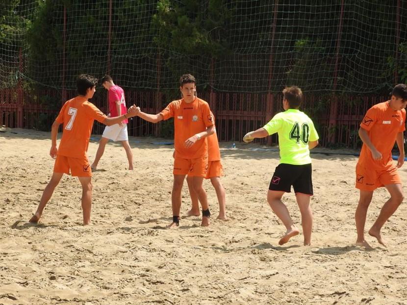 Megyei strandfocigyőztes az U19-es csapat