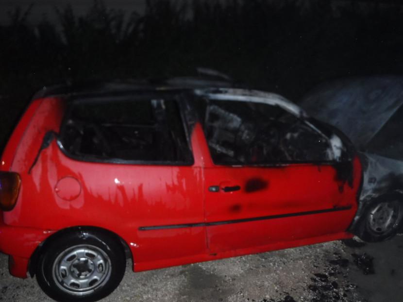 Autótűz az Alispán utcában