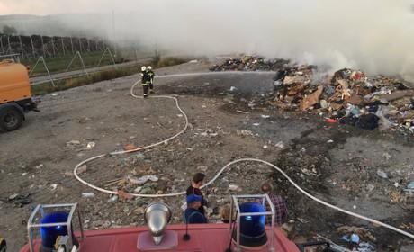 Tűz a hulladéklerakónál