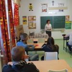 Az igazgatónő a felvételi eljárás mellett az iskolát is bemutatta